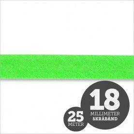 Skråbånd neon grøn 1rl/25m