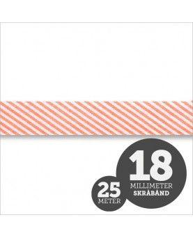 Skråbånd Strib Orange 1rl/25m