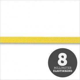 Elastikbånd gul 8mm