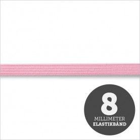 Elastikbånd lyserød 8mm