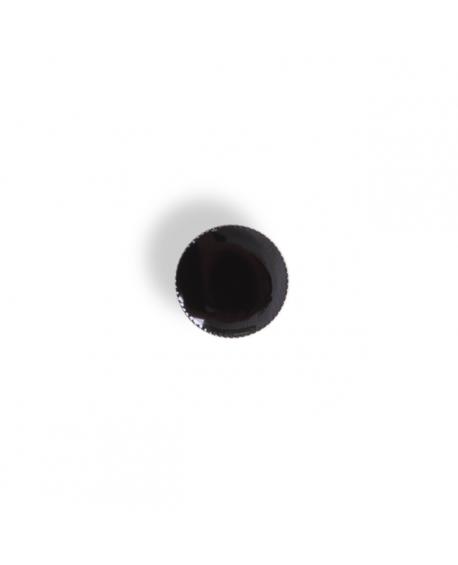 Knapper metal sort/sølv 16mm