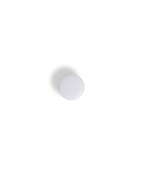 Knapper metal hvid/sølv 11mm