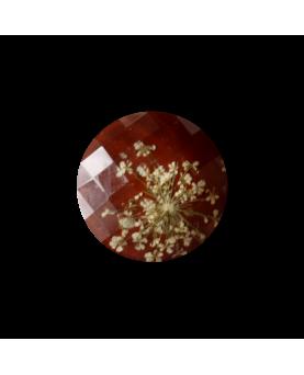 Knap brun ægte blomst 30mm