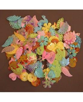 Pailletter pastelfarver 15 gram