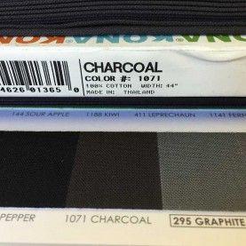 Ensfarvet bomuld Charcoal