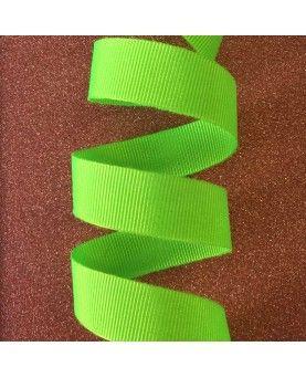 Grosgrain bånd neon grøn15mm
