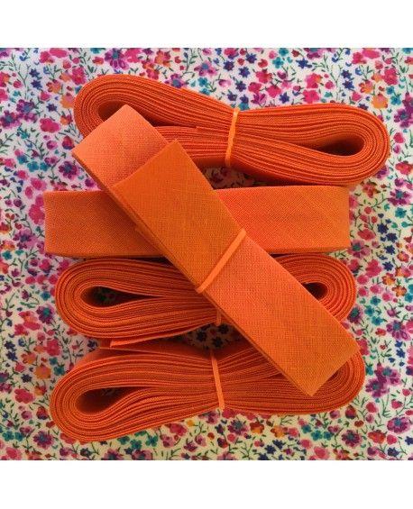 Skråbånd orange - 3 meter