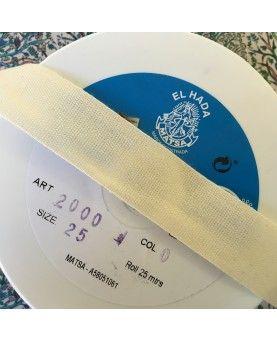 Bomuld bånd 25mm - kobolt blå