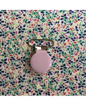 Seleclips rund lyserød