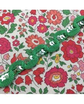 Paillet bånd - grønt