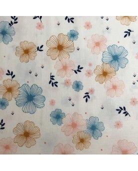 Dashwood - blomster lyseblå