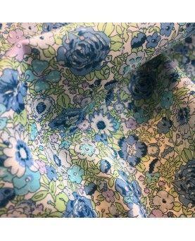 Liberty stof - Amelie - blå og turkis