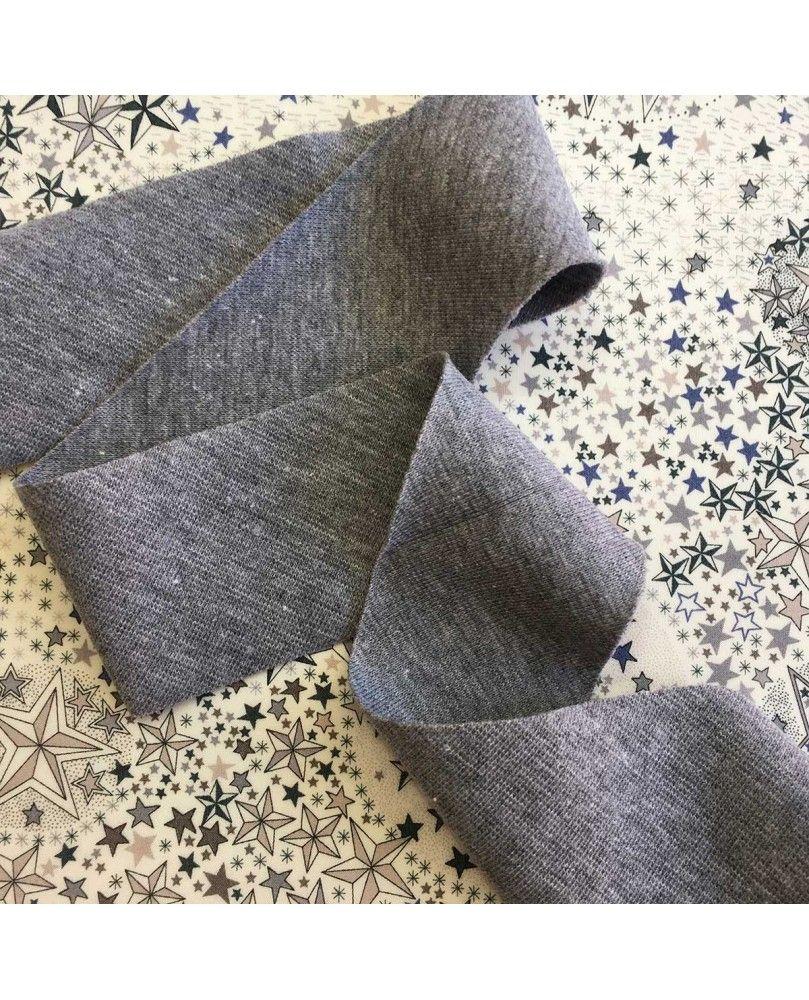 Jersey rib bånd - 38mm grå