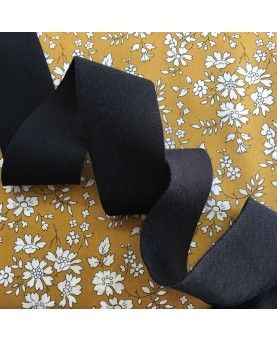 Jersey rib bånd - 32mm sort