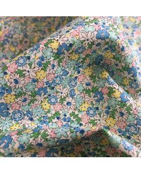 Japansk stof - små blomster mint