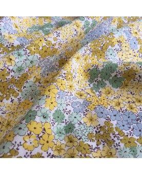 Japansk stof - Hortensia blomster gul