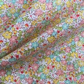 Japansk stof - Små blomster lyserød