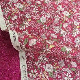 Japansk stof - Blomster - Pink