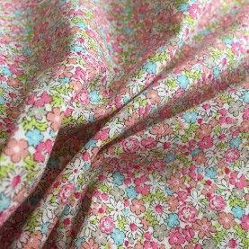 Japansk stof - Små blomster - Pink