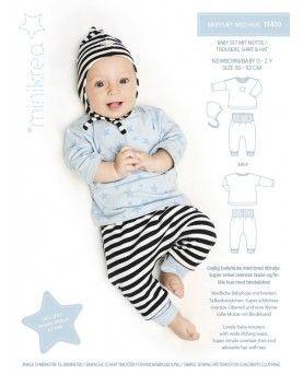 Minikrea Babysæt med hue