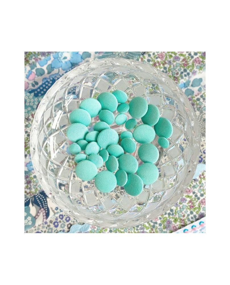 Stofknapper - ensfarvet Mint