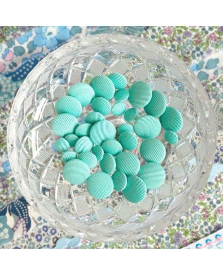 Stofknapper - ensfarvet Mint 11,15 og 20mm