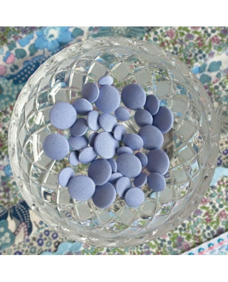 Stofknapper - ensfarvet lilla 11,15 og 20mm