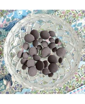 Stofknapper - ensfarvet grå 11,15 og 20mm