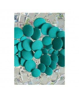 Stofknapper - ensfarvet lyseblå 11, 15 og 20mm