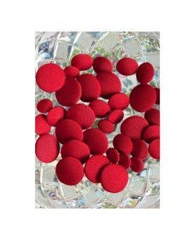Stofknapper - ensfarvet pastel lyserød 11, 15 og 20mm
