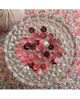 Knapper perlemor blomst koral 15mm
