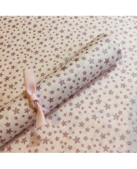 45x70cm - Glitter star lyserød