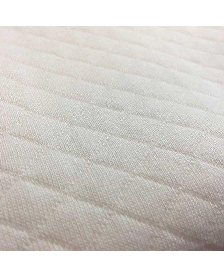 Quiltet jersey hvid