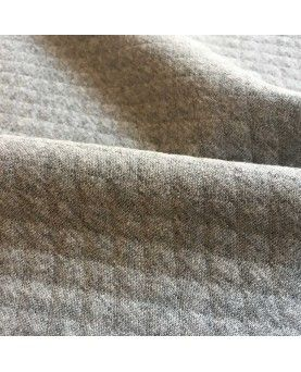 Quiltet jersey grå