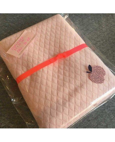 Stofstykke 70x90cm Quilt lyserød