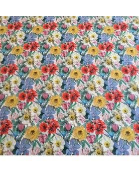 Liberty stof Meadow Melody Small Hvid