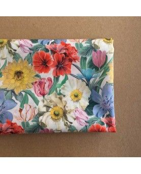 Liberty stofstykke 45x65cm Meadow Melody Small Hvid
