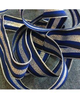 Grosgrain bånd 25mm Sølv, Hvid og Beige