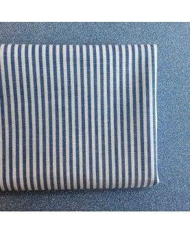 Fat quarter - Geometrisk - hvid og blå