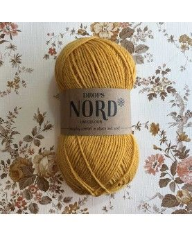 DROPS Nord garn - Okkergul uni colour 18