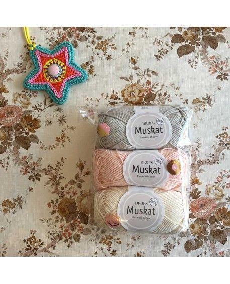 DROPS garn Muskat - Pakke 3 stk