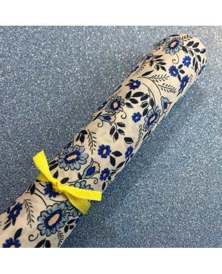 Liberty stofstykke 45x65cm - Alpine Daisy Blå