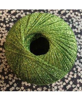 Lurex garn - Grøn