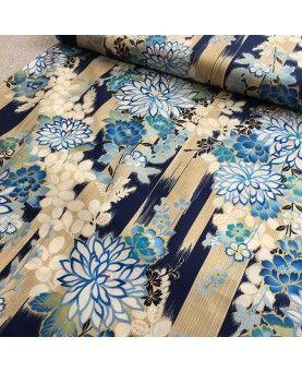 Kokka fabric - kimono - blå