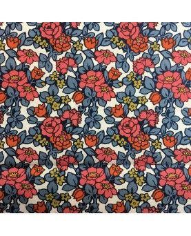 Liberty Poplin Anthology blå & koral