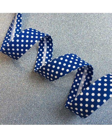 Skråbånd prikker Blå