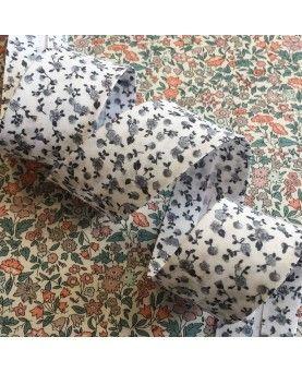 Skråbånd blomster 30mm grå
