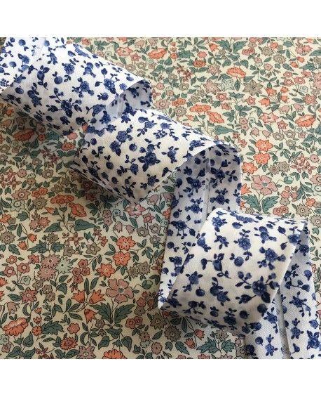 Skråbånd blomster 30mm blå
