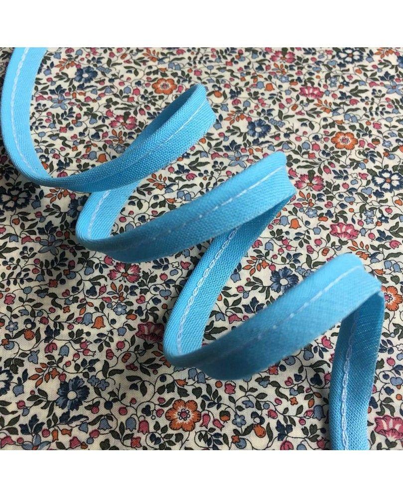 Tittekant bomuld - himmelblå