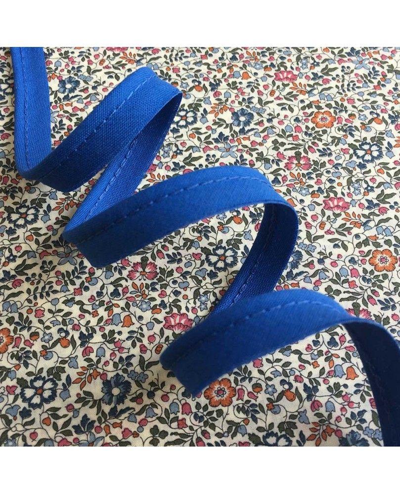 Tittekant bomuld - kobolt blå